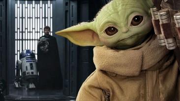 """В сети показали новый постер к сериалу """"Мандалорец"""" с Грогу и Люком Скайуокером"""