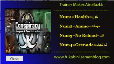 Conspiracy Weapons of Mass Destruction: Трейнер/Trainer (+4) [1.0] {Abolfazl.k}