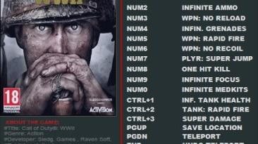 Call of Duty: WWII: Трейнер/Trainer (+14) [1.3.0.15989] {FutureX}