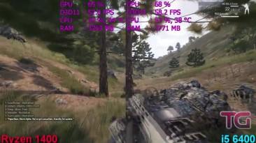 Ryzen 5 1400 vs i5 6400 в Arma 3 Apex (GTX 1060)