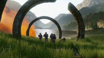 Скоро на Xbox Series X S и Xbox One: Microsoft показала новый арт Halo Infinite
