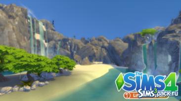 "Sims 4 ""Гранит Бич от Nando"""
