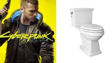Реддитор сделал мокапы туалетов в стиле Cyberpunk 2077
