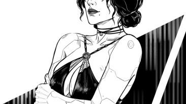 Художница изобразила Трисс и Йеннифэр в образах кочевника, дитя улиц и корпората из Cyberpunk 2077