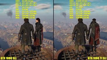 Assassin's Creed Syndicate GTX 1080 TI SLI Vs GTX 1080 SLI 4K Ультра. Частота кадров/Тест производительности