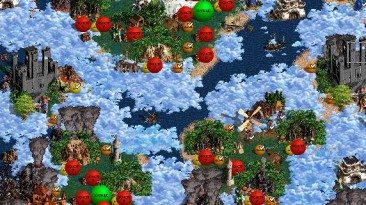 "Heroes of Might and Magic 3 ""Карта для мода MoP Master of Puppets ""Небо,море,облака"" v.1.1"