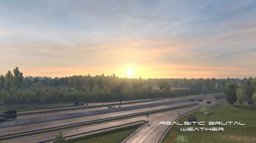 "American Truck Simulator ""Реалистичная и безжалостная погода v2.6 (1.38.x)"""