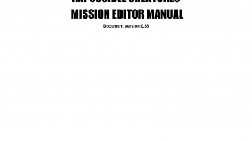 "Impossible Creatures ""Mission Editor Manual (Руководство по редактору миссий)"""