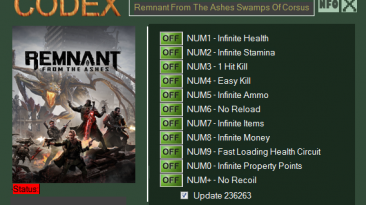 Remnant: From the Ashes: Swamps of Corsus: Трейнер/Trainer (+11) [236263] {CODEX}
