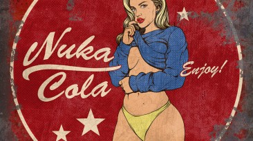 "Fallout 4 ""Автобусные остановки Nuka Cola Girl"""
