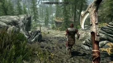 Выбрались из крепости и направились в Ривервуд - Skyrim