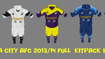 "FIFA 13 ""Swansea City AFC full kitpack 2013-14 seasons"""
