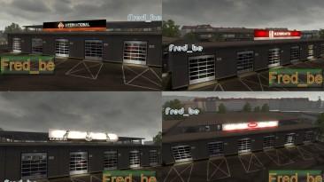 """Euro Truck Simulator 2 """"Большие гаражи для американских грузовиков"""""""