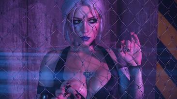 Косплей на Цири, оказавшейся в мире Cyberpunk 2077