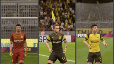 "FIFA 18 ""Borussia Dortmund GK,HOME and AWAY kits + minikits"""