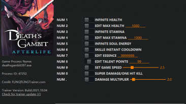 Death's Gambit - Afterlife: Трейнер/Trainer (+11) [1.0.5] {FLiNG}
