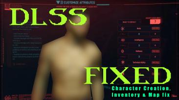 """Cyberpunk 2077 """"Исправление DLSS для рендеринга в меню инвентаря и создания персонажа"""""""