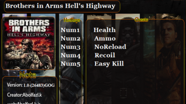 Brothers in Arms: Hell's Highway: Трейнер/Trainer (+5) [v1.0] {Abolfazl.k}