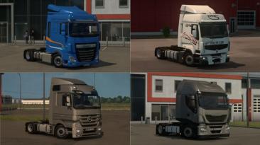 "Euro Truck Simulator 2 ""Мод Низкое Шасси Для Грузовиков v 4.8.1 (v1.39.x)"""