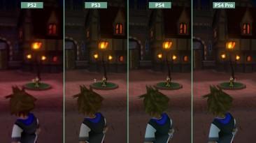Kingdom Hearts - PS2 vs. PS3 vs. PS4 vs. PS4 Pro 4K UHD Graphics Comparison