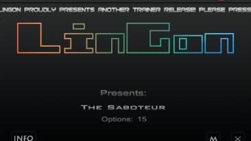 The Saboteur: Трейнер/Trainer (+15) [1.0] {LinGon}