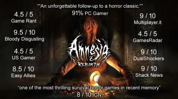 Оценки Amnesia: Rebirth