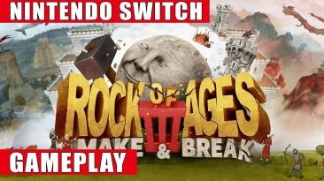 Игровой процесс аркады Rock of Ages 3: Make & Break