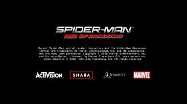 """Spider-Man: Web of Shadows """"Русская версия начального экрана игры"""""""