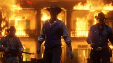 Фанат Red Dead Redemption 2 создал великолепный огненный арт в игре