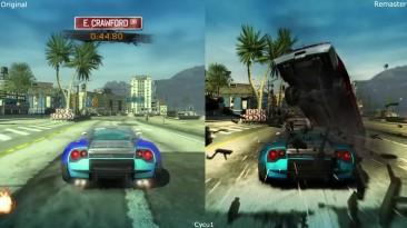 Сравнение графики - Burnout Paradise Remastered vs Ранний оригинал