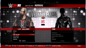 "WWE 2K16 ""Пак рендеров для Luke Gallows"""