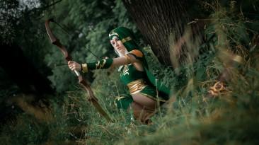 Лучница из Шервудского леса - косплей на Ashe из League of Legends