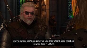 """Witcher 3 """"Улучшенные модели персонажей вне диалогов"""""""