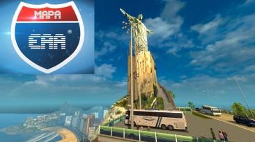 """Euro Truck Simulator """"Карта Южной Америки EAA v6.3 (1.41.x, 1.42.x)"""""""