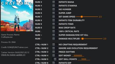 Craftopia: Трейнер/Trainer (+20) [EA: 12.02.2021] {FLiNG}