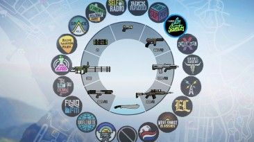 """Grand Theft Auto 5 """"Colorful HUD (Weapons, Radio & Map Blips) 1.0"""""""