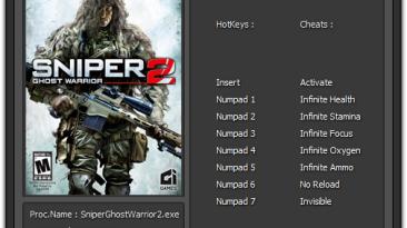 Sniper: Ghost Warrior 2: Трейнер/Trainer (+7) [3.4.4.6290] {Cemi4ka}