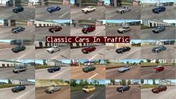 """Euro Truck Simulator 2 """"Пак машин 60-х-80-х годов в трафик v6.3"""""""