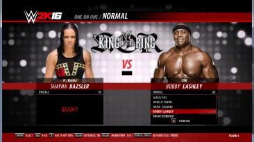 "WWE 2k16 ""Shayna, Lashley рендеры"""