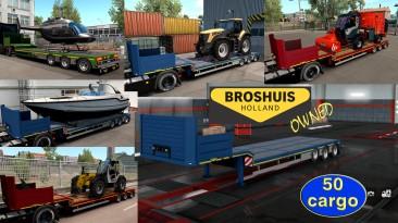 """Euro Truck Simulator 2 """"Низкорамный прицеп Broshuis в собственность v1.2.6"""""""
