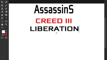 "Assassins creed Liberation ""Шрифт для фотошопа"""