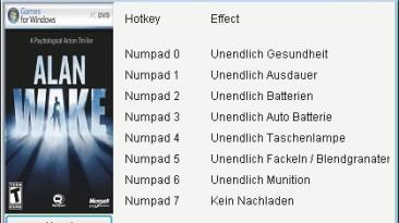 Alan Wake: Трейнер/Trainer (+8) [1.06.17.0154] {Chris/GGHZ}