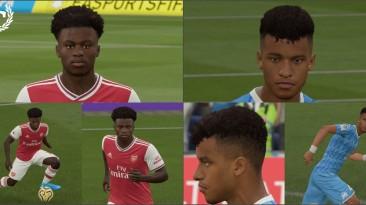 """FIFA 20 """"Kamara and Saka face"""""""