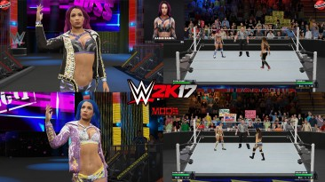 """WWE 2K17 """"Sasha Banks 2 Attire WWE 2K19 Port MOD"""""""