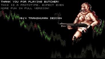 Первые 10 минут игры Butcher - кровавого 2D-шутера в духе Doom и Quake