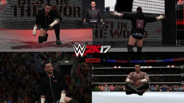"WWE 2K17 ""CM Punk AEW Rampage 2021 Наряд WWE 2K19 Порт Мод"""