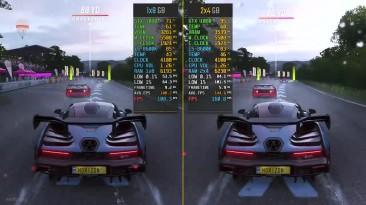 Forza Horizon 4 8GB RAM Single Channel vs. Dual Channel 1x8 vs. 2x4 - сравнение производительности