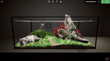 Видео игрового процесса медитативного симулятора Aquarium Designer