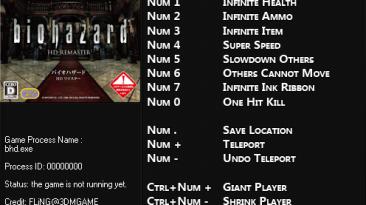 Resident Evil / Biohazard HD REMASTER: Трейнер/Trainer (+11) [1.0] {FLiNG}