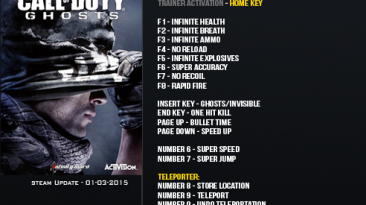 Call of Duty ~ Ghosts: Трейнер/Trainer (+16) [Update: 01.03.2015] {LinGon}